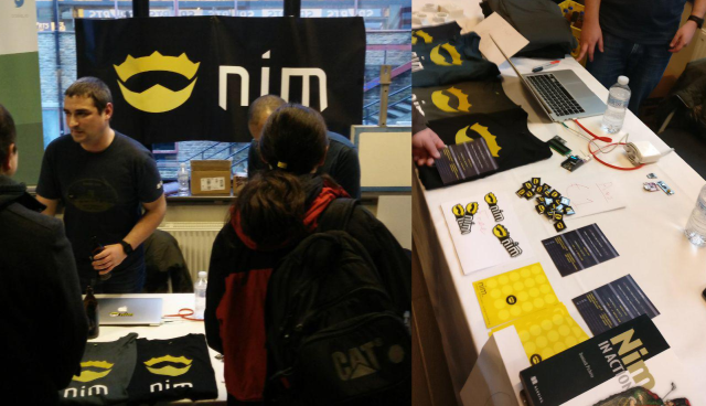 Nims stand at FOSDEM